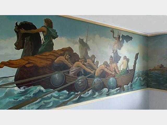 La fresque viking terminée