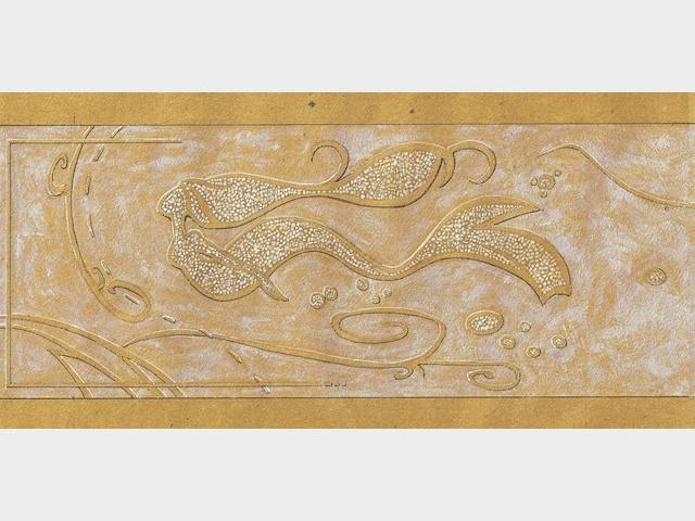 Sirène - Mosaique et patine