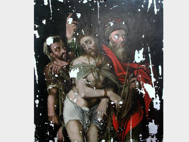 Restauration peinte du Christ, entière