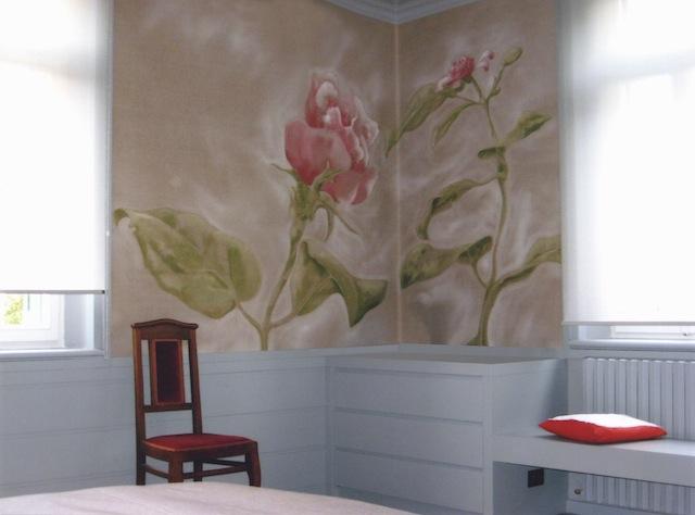 Toile peinte - Mur d'angle